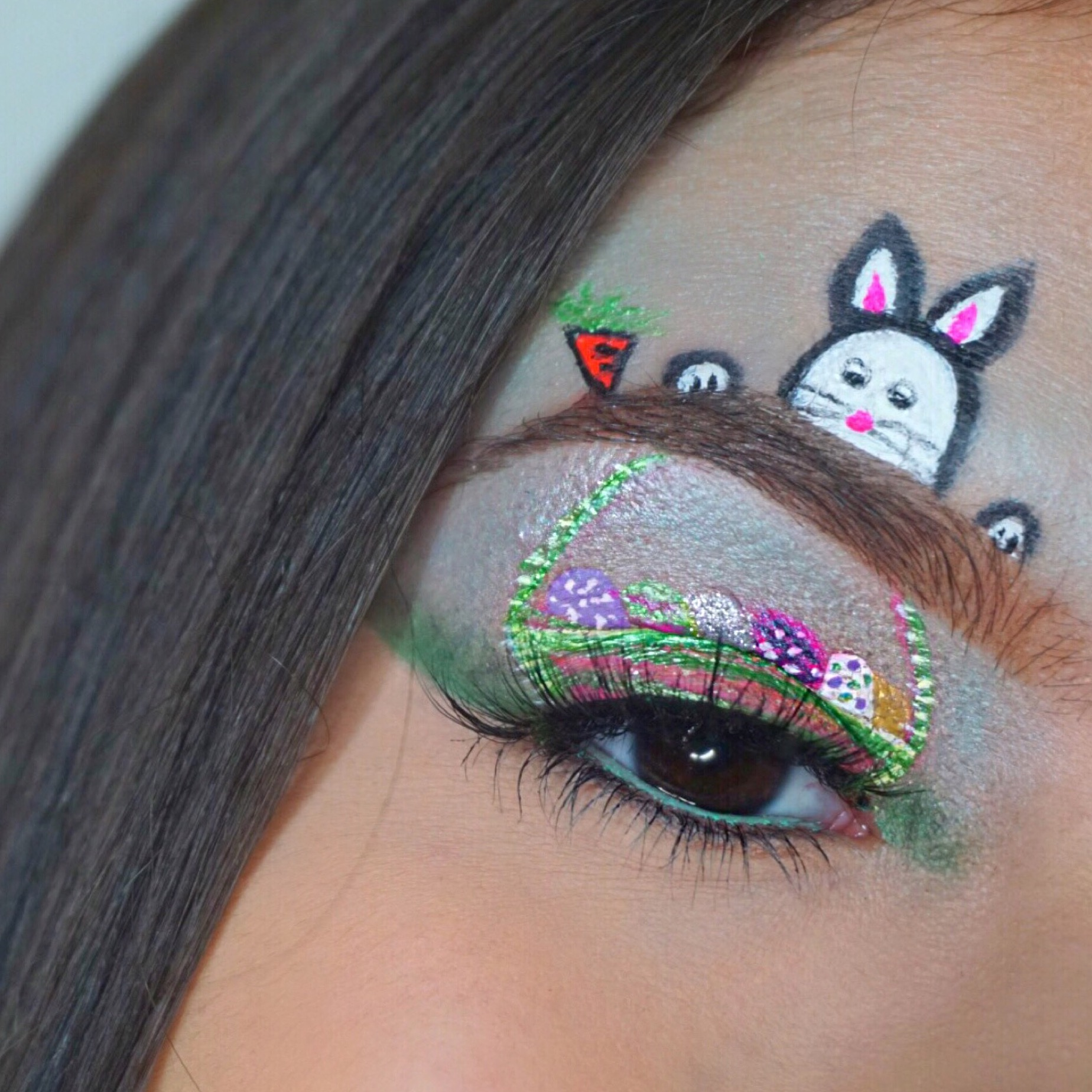 Easter Eye Makeup Look Michaela Kurtzer